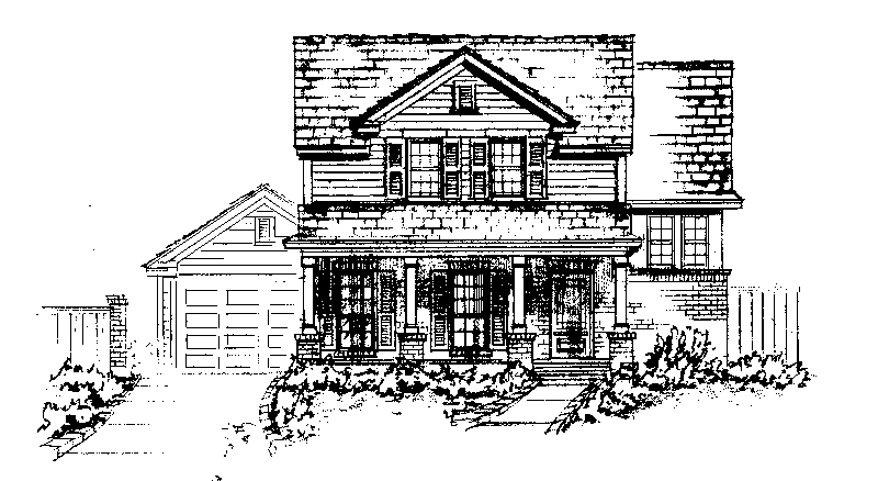 Ranch House Plan Front of Home - 137D-0007 | House Plans and More
