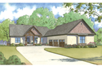 European House Plan Front of Home - 155D-0001 | House Plans and More