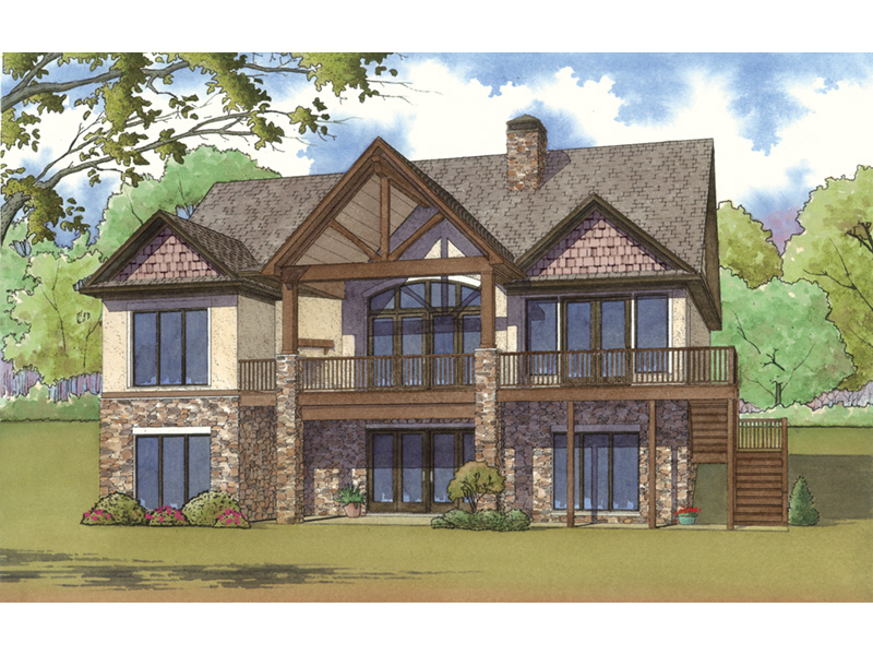 European House Plan Rear Photo 01 - 155D-0001 | House Plans and More