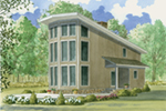 Mountain Home Plan Front of Home - 155D-0011 | House Plans and More