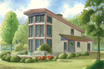 Rustic Home Plan Front of Home - 155D-0012 | House Plans and More