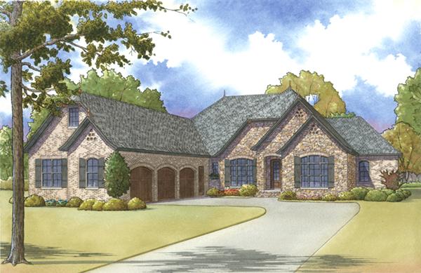 Hunt Cliff European Ranch Home Plan 155D 0014 House