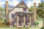 Craftsman House Plan Rear Photo 01 - 155D-0016 | House Plans and More
